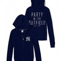 New York Yankees Funnelneck Perfect Zip - PINK - Victoria's Secret