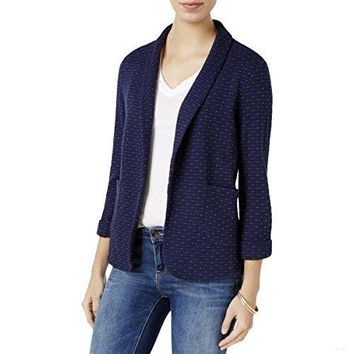 Maison Jules Cotton Knit Blazer