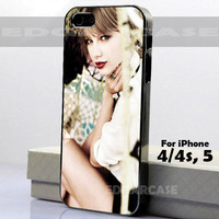 Taylor Swift Beautiful and Sexy - Hard Cover - For iPhone 4 / 4S , iPhone 5 - Black / White Case