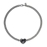 Verity. Black CRYSTAL Heart CHAIN CHOKER