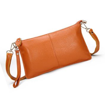 14 colors Leather Envelope Clutch Designer Handbags High Quality Cross-body Women Female Clutch Evening Bags