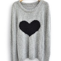 CharmdGasstation — Cute Heart Sweater