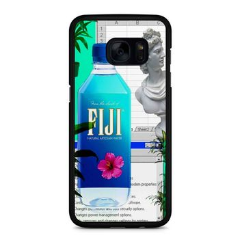 Fiji Water Vaporwave Samsung Galaxy S7 Edge Case