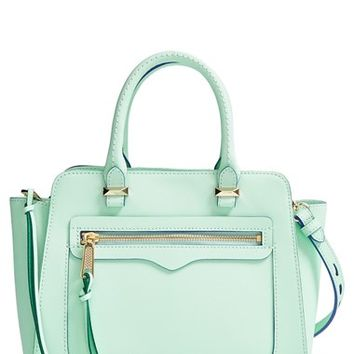 Women's Rebecca Minkoff 'Mini Avery' Tote - Blue/green