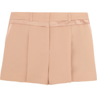 See by Chloé|Satin-trimmed crepe shorts|NET-A-PORTER.COM