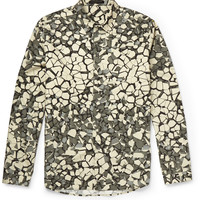 Christopher Kane - Rubble Slim-Fit Printed Cotton Shirt | MR PORTER