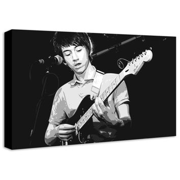 Arctic Monkeys Alex Turner Pop Art Canvas Print