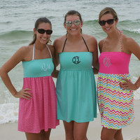 Swimsuit Coverup Monogrammed, Bathing Suit Monogrammed Coverup