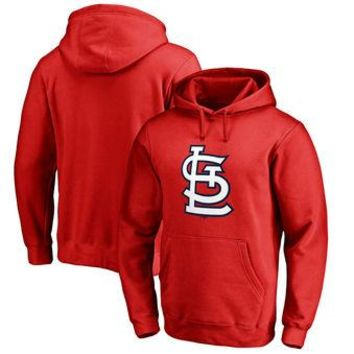 St Louis Cardinals MLB Red Fastball Fleece Pullover Hoodie