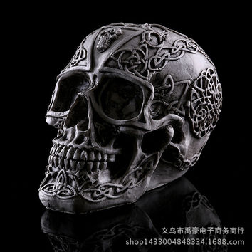 11x15x4cm Model skull theme interior resin Halloween skull mold home medical skull high precision personalized  Home Decoration