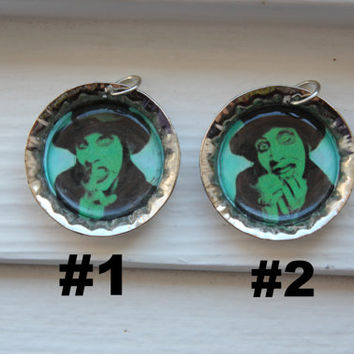 Marilyn Manson Bottle Cap Necklace- Smells Like Children Album- Brian Hugh Warner, Rock, Industrial, Metal, Spooky Kids, Shock Rock, Album