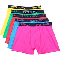 River Island MensMixed bright RI boxer shorts pack
