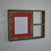 Photo frame with shelf 11x14 with mat for 8x10 or 9x12 or 8x12