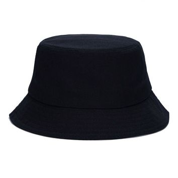 Unisex Bucket Hat for Men Women Solid Blank Beach Hats Summer  Sun Protection Cotton Hat Female Male