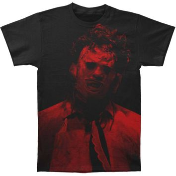 Texas Chainsaw Massacre Men's  Leatherface Subway T-shirt Black