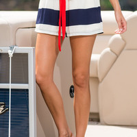 Home Free Shorts, Navy-Red