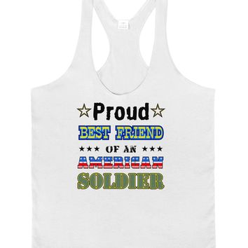 Proud Best Friend of an American Soldier Mens String Tank Top