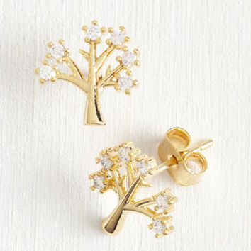 Rustic Make Like a Tree and Gleam Earrings by ModCloth