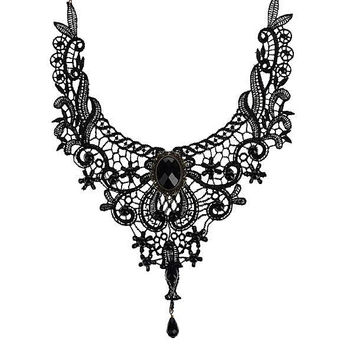 Handmade Gothic Vintage Lace Necklace Collar Choker