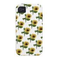 Vintage Sunflowers Custom Gift Items Case-Mate iPhone 4 Cover