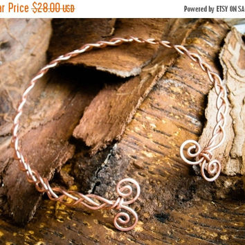 Celtic torc necklace , copper necklace, torc necklace , viking torc, norse,  dacian necklace, spirals, skyrim , medieval, rennaisance choker