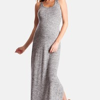 Women's Seraphine 'Magda' Space Dye Knit Maxi Maternity Dress