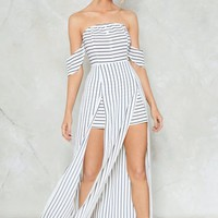Living On a Thin Line Pinstripe Romper