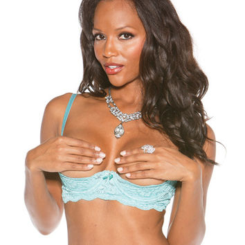 Stretch Lace Shelf Bra W-wired Demi Cup Spearmint 34