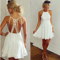 Halter Chiffon Mini Dress