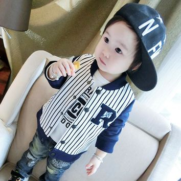 Baby Boy Clothes Boys Jacket 2017 Spring Letter Boys Outwear For Children Brand Kids Coats For Boys Baseball Sweatershirt 1-5T