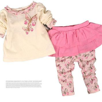 Baby Girls Clothing Set Cotton Divided Skirts Newborn Infant Clothing Girls Suit Baby Girl Clothes Set Fashion New Autumn