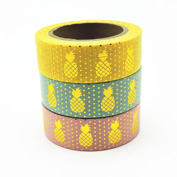 New Foil Washi Tape Scrapbooking Tools Cute Decorative Adhesiva Decorativa Japanese Stationery Washi Tapes Scrapbook Mask