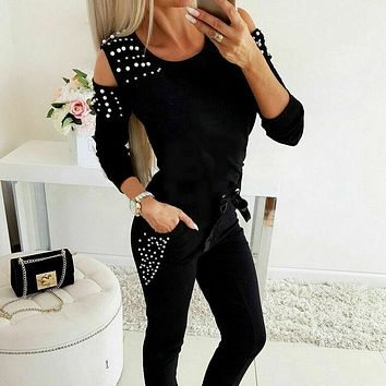 Autumn Women 2pcs Set winter coat Sleeve High Short Pants Outfit Workout Fitness Athletic Workout Clothing Tracksuit Jogger hot