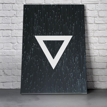 Canvas Wall Art Print - Triangle Rain by Leftfield_Corn