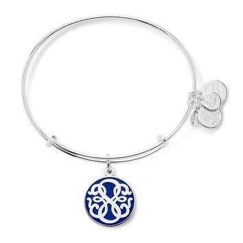 Alex and Ani Blue Path of Life Charm Bangle - Shiny Silver Finish