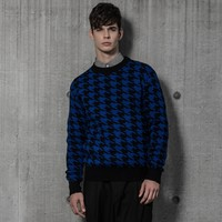 LAMBS HOUNDTOOTH KNIT