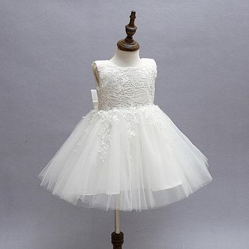 Fancy Baby Girl Dress First Birthday Party Outfit Little Girl Wedding Bridesmaid Dress Lace Christening Gowns 2 Years Kids Wear