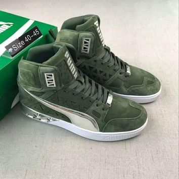 PUMA Women Men Casual Running Sport Shoes Sneakers Green I-PSXY