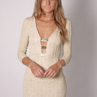 Esther Boutique - samantha long sleeve tunic- cream with sequin detail