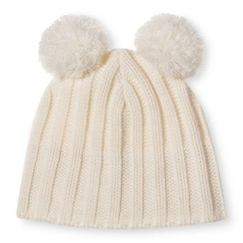 Women's Knit Double Pom Hat