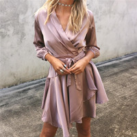 Shirt Dress Autumn One Piece Dress [9430703364]
