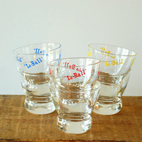 Set of 6 Eva Zeisel LoBall Glasses Primary Colors Mad by vint