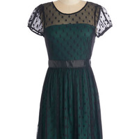 ModCloth Mid-length Short Sleeves A-line Endearing Engagement Dress in Evening