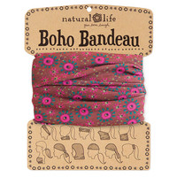 Brown & Hot Pink Boho Bandeau
