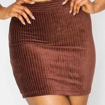 On The Town Mini Skirt - Chocolate
