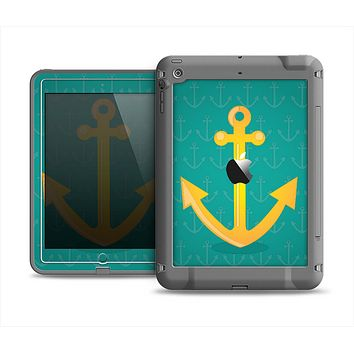 The Gold Stretched Anchor with Green Background Apple iPad Mini LifeProof Fre Case Skin Set