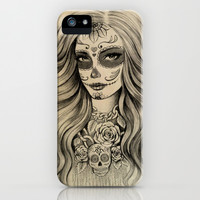 Sugar Skull iPhone & iPod Case by Vivian Lau