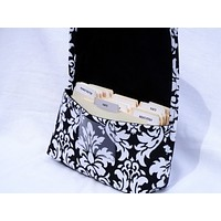 Coupon Organizer Holder Classic Damask Fabric