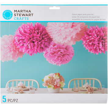 Tissue Paper Pom-Pom Kit Makes 5-Pink