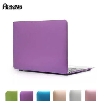 Alabasta  Matte Laptop Cover For Apple Macbook Pro 13 Case 13.3  Matte Laptop Cases New Rose Gold Metal Color Laptop Hard Case